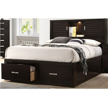 5-Piece Dalton Queen Bed Only w/ Woodhaven Tight Top Firm Mattress