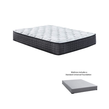 """12"""" Tight Top Plush King Innerspring Boxed Mattress with 9"""" Foundation & Protectors"""