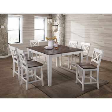 7-Piece A La Carte White Counter Height Dining Room Collection