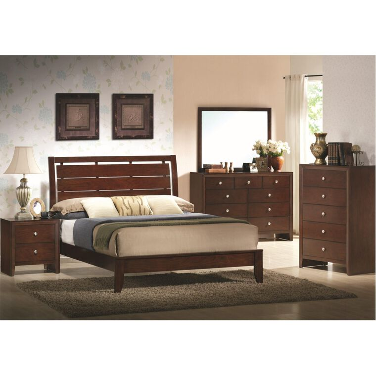 7-Piece Evan Espresso Bedroom w/King Bed