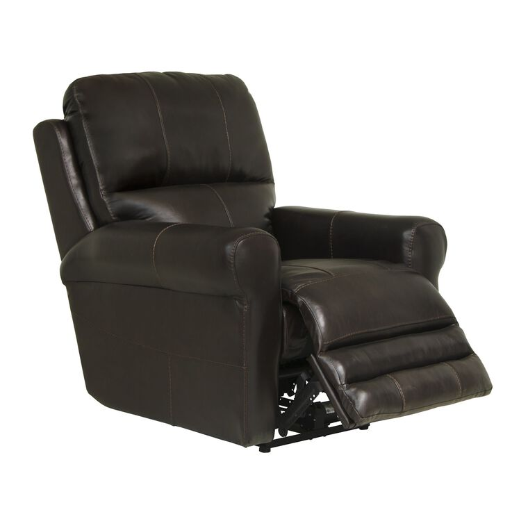 Power Leather Lay-Flat Recliner