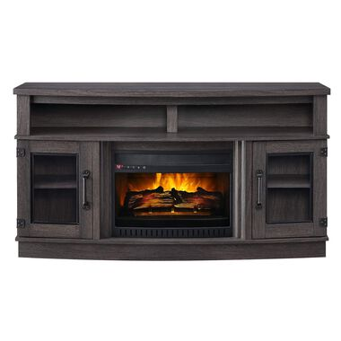 "60"" Bowfront Fireplace with 23"" Firebox"