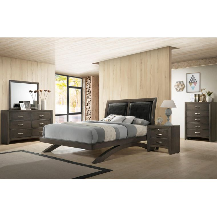 7-Piece Galinda Grey Bedroom w/King Bed