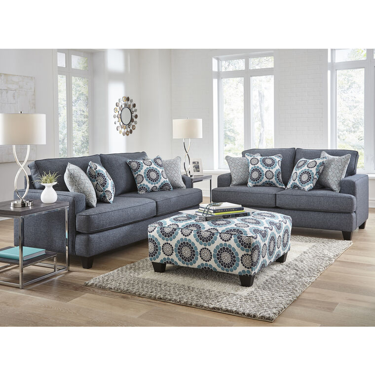 7-Piece Carmela Living Room Collection with Ottoman