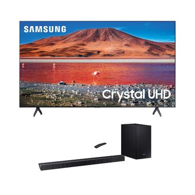 "50"" Class 4K UHD Smart TV & 320W 2.1Ch Sound Bar Bundle"