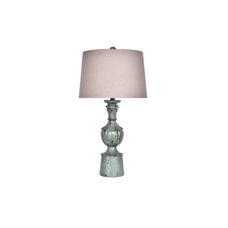 Distressed Iceberry Green Table Lamp (Set of 2)