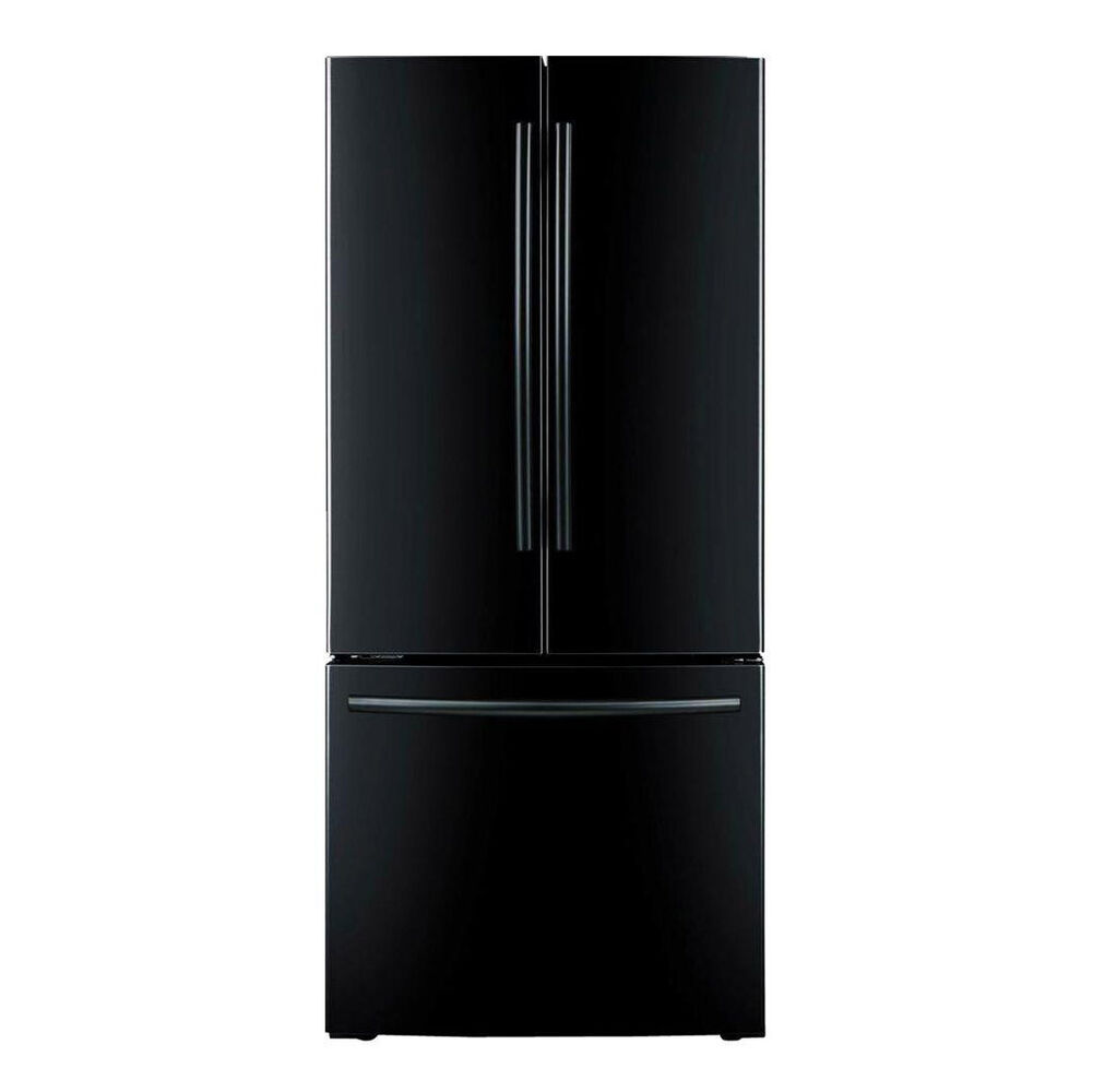French Door Refrigerator With Ice Maker Black