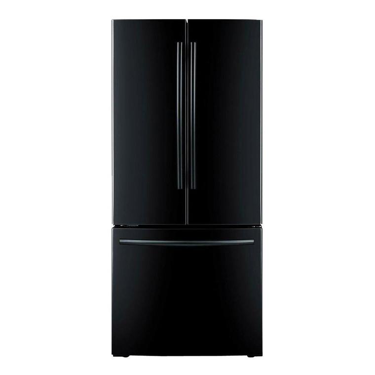 20 cu. ft. French Door Refrigerator with Ice Maker - Black