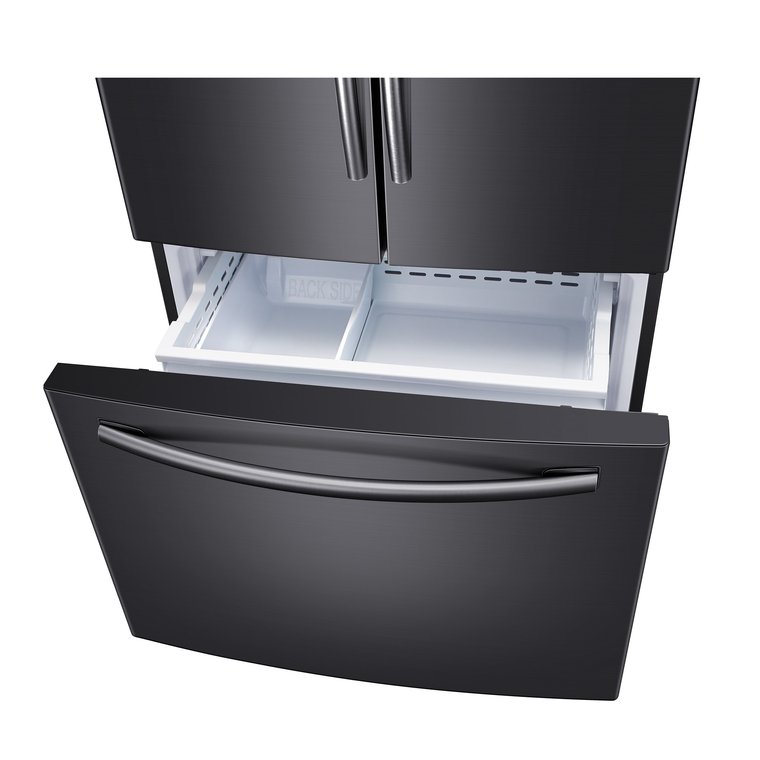 26 cu. ft. Energy Star French Door Refrigerator with Filtered Ice Maker - Black Stainless