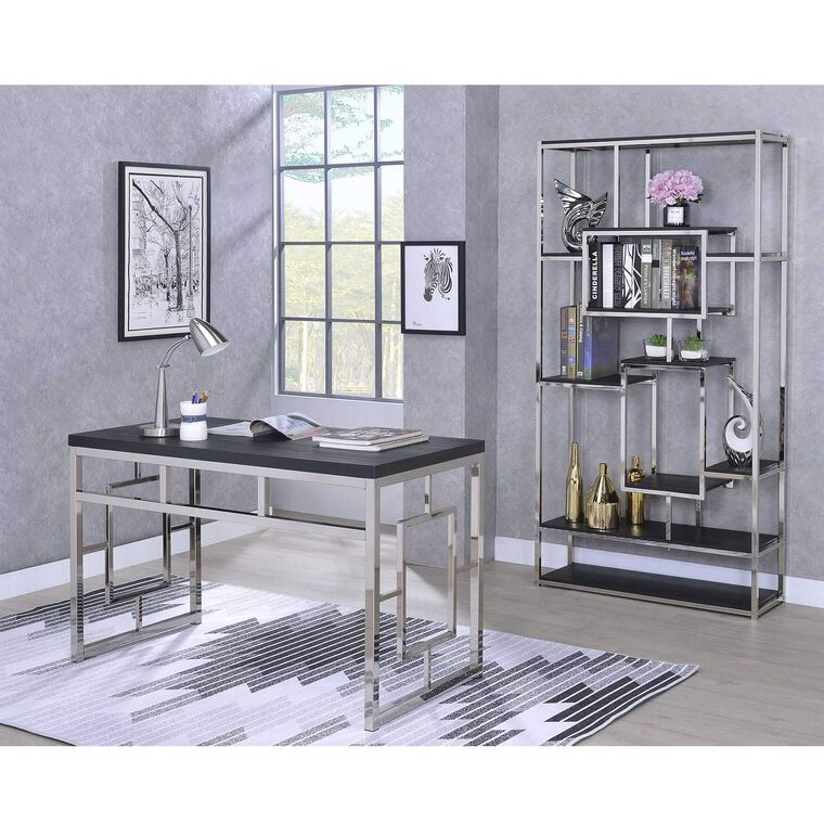 2-Piece Alize Capuccino Desk and Bookshelf Set