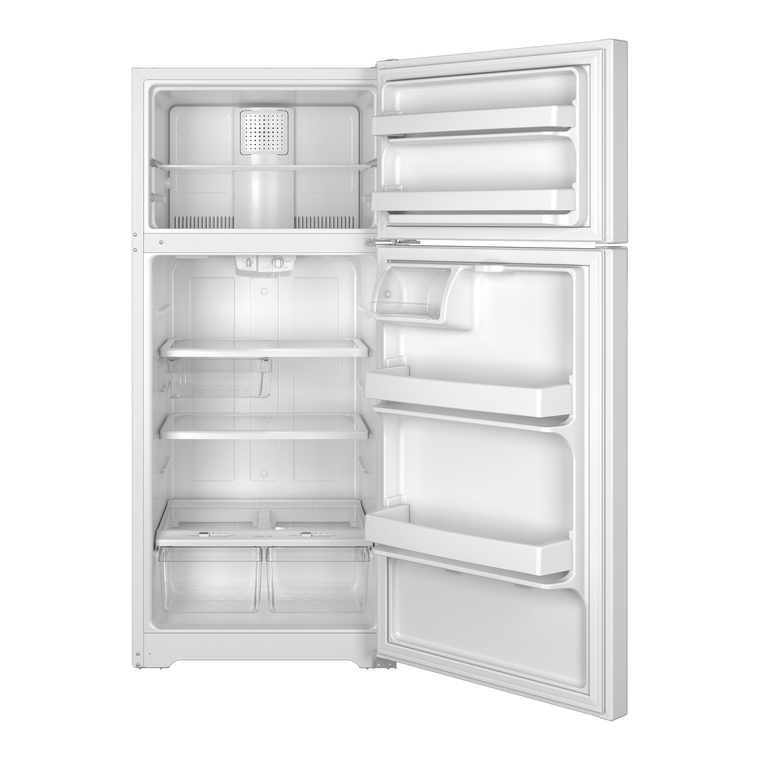 15.5 cu. ft. Top Mount Refrigerator - White
