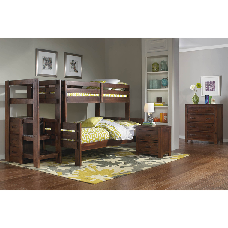 Twin/Full Folding Storage Bunkbed