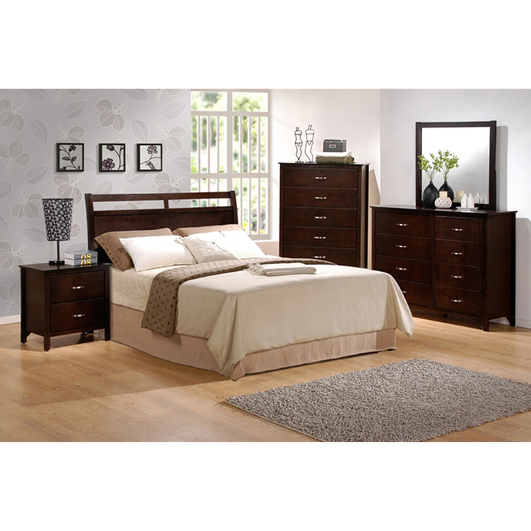 10-Piece Ian Queen Bedroom Collection With Pillow Top Mattress