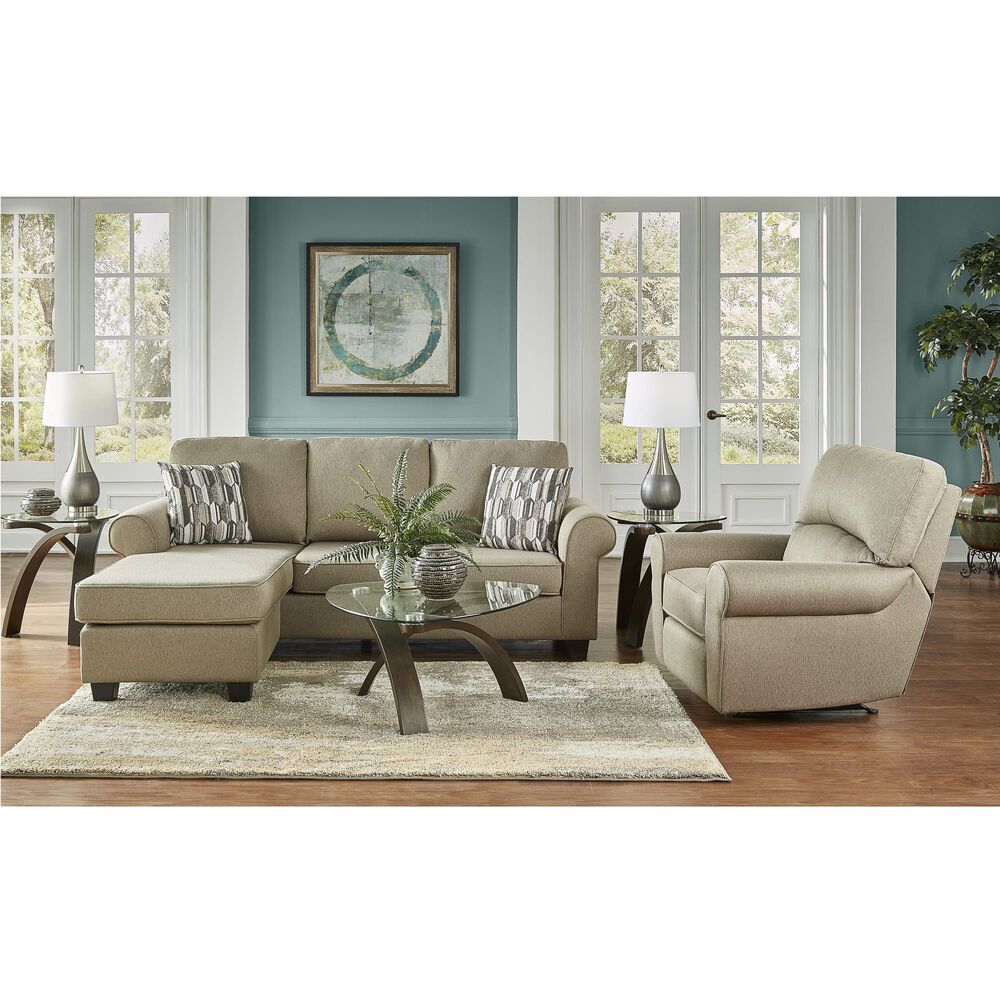 2-Piece Hayden Chaise Sofa and Recliner Living Room Collection