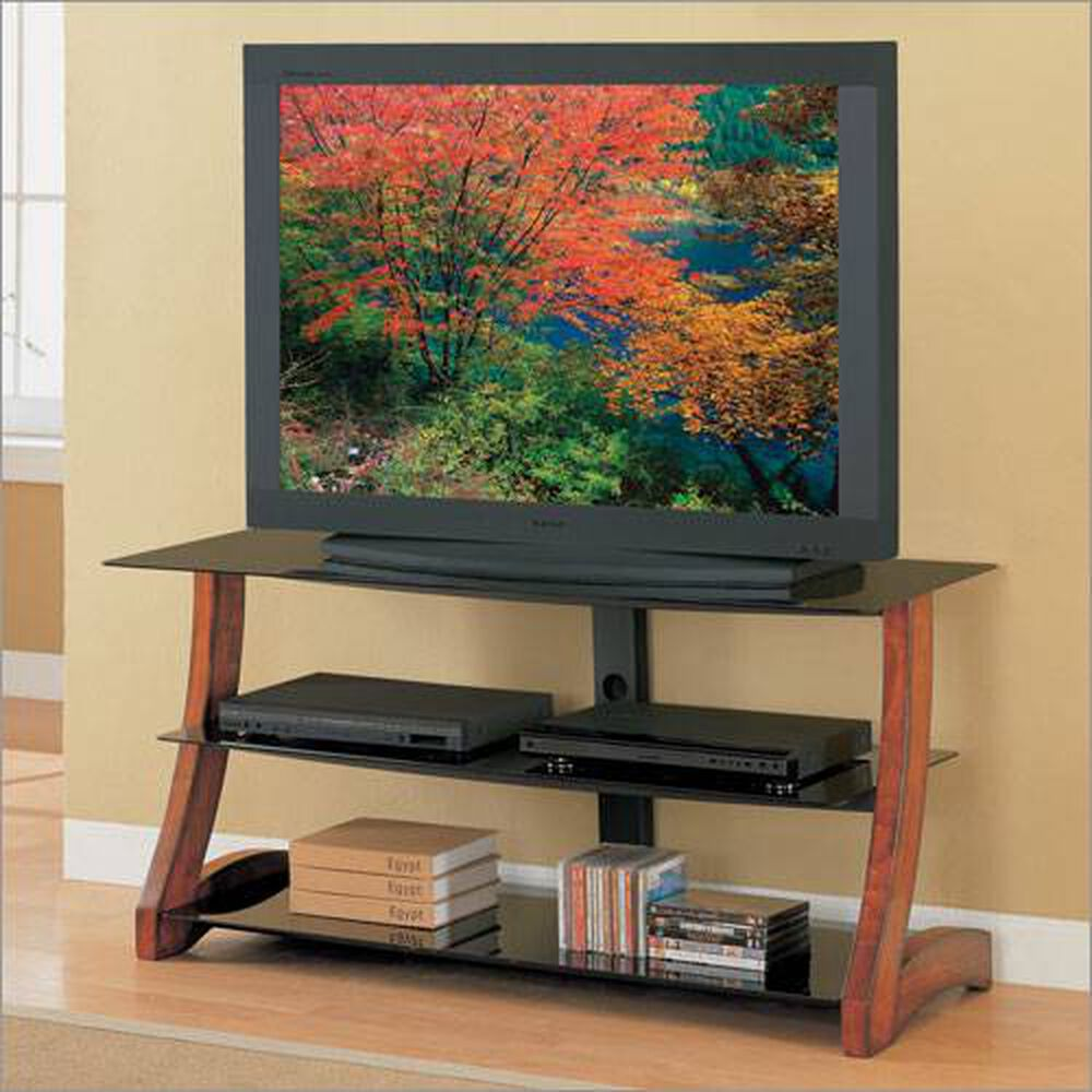 Whalen Entertainment Centers 50 Wood Glass Tv Stand