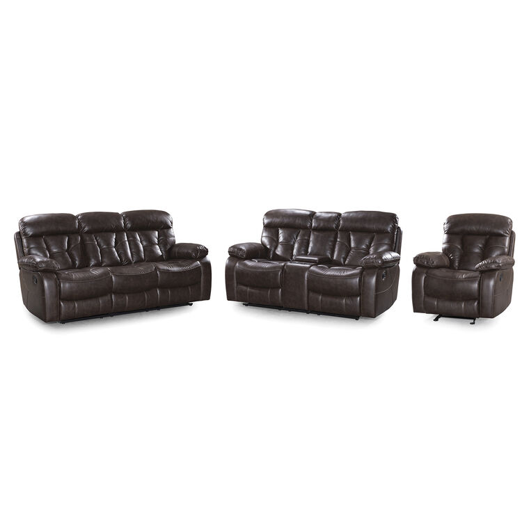 3-Piece Peoria Reclining Sofa, Loveseat, and Recliner