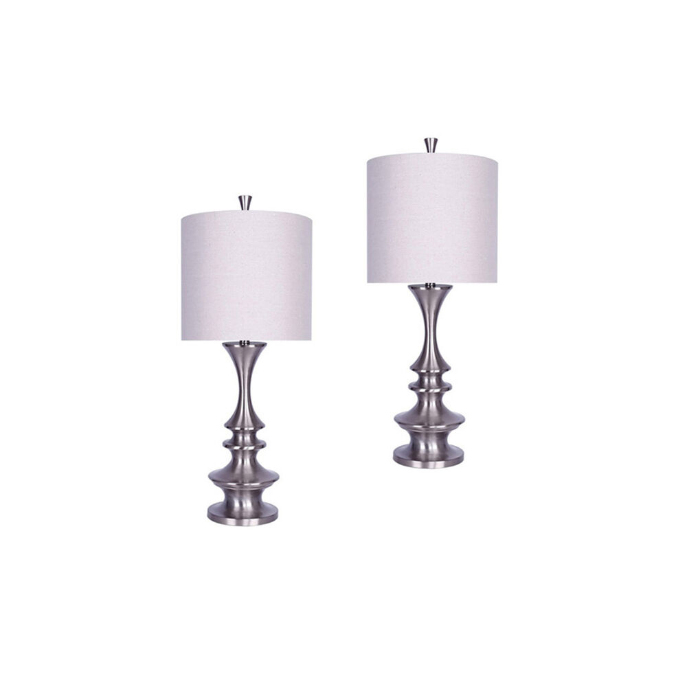 middlebury table scalloped consignment column nickel lamp lamps com brushed l pixball