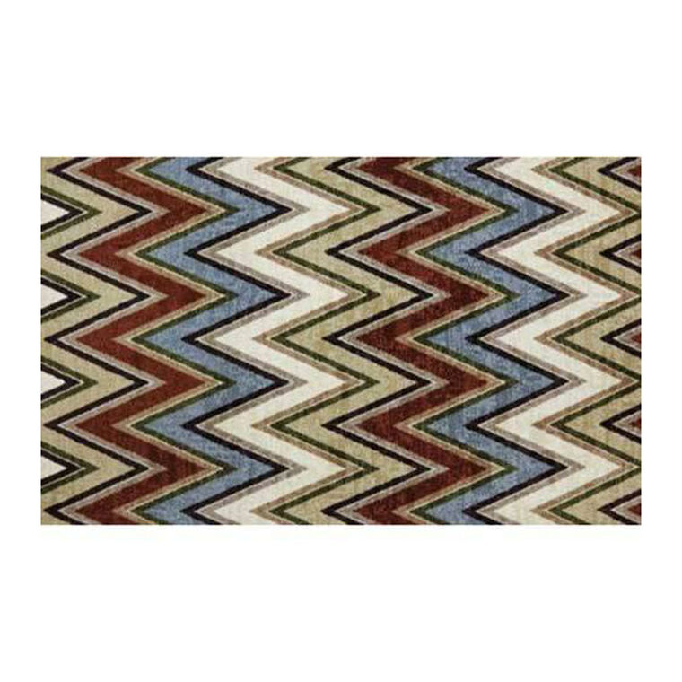 Chevron Lines Multicolor Area Rug