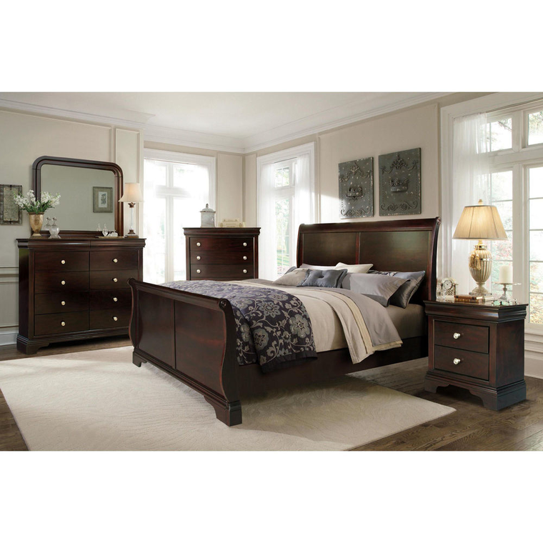 11-Piece Dominique Queen Bedroom Collection With Pillow Top Mattress