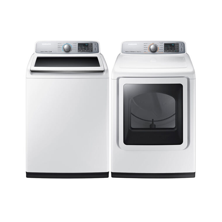 5.0 cu. ft. High Efficiency Top Load Washer & 7.4 cu. ft. Electric Steam Dryer