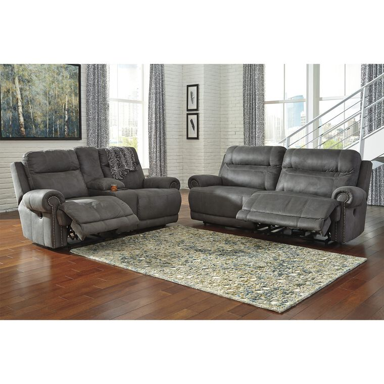 2-Piece Austere Living Room Collection - Gray
