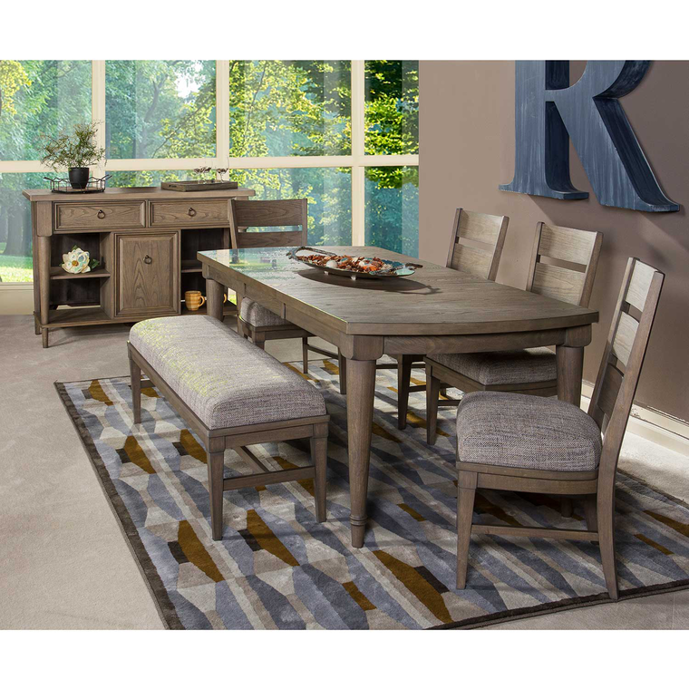 6-Piece Gent Dining Set with 4 Chairs & Bench