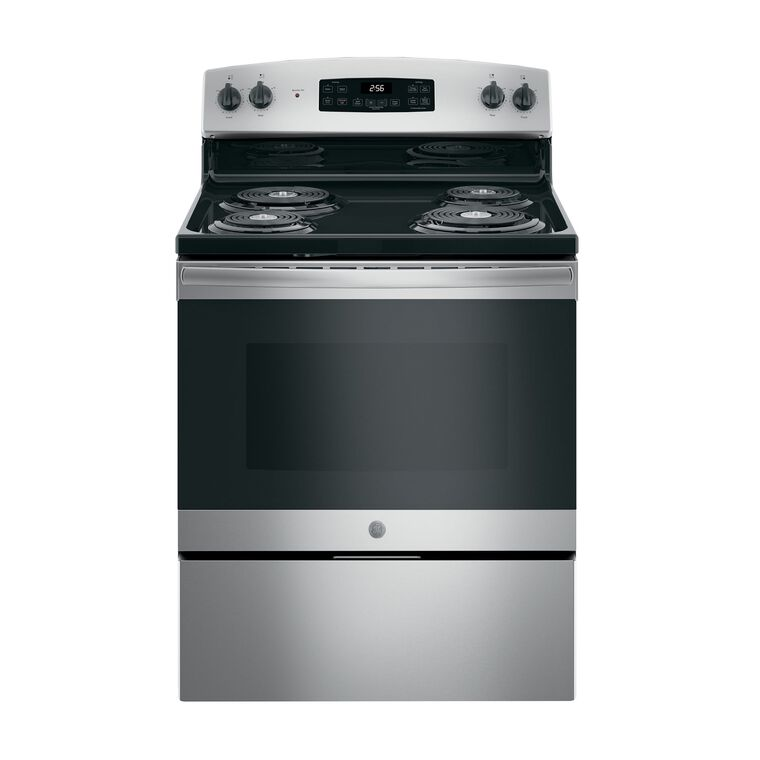 5.0 cu. ft. Self Clean Electric Range with Coil Cooktop - Stainless Steel