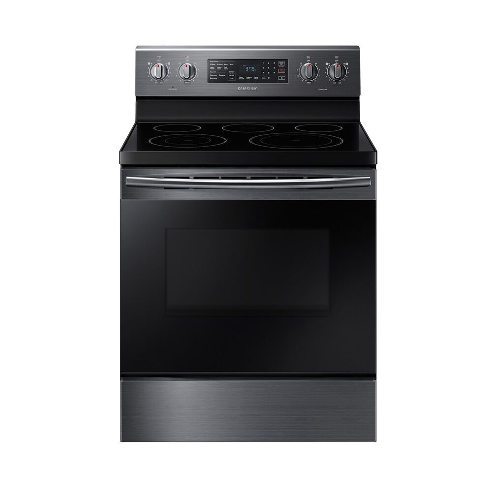 Convection Oven Ceramic Cooktop Electric Range Black Stainless