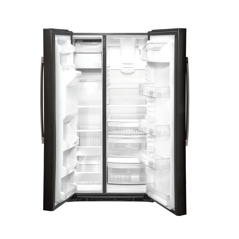 25.1 cu. ft. Side-by-Side Refrigerator - Stainless Steel/Black