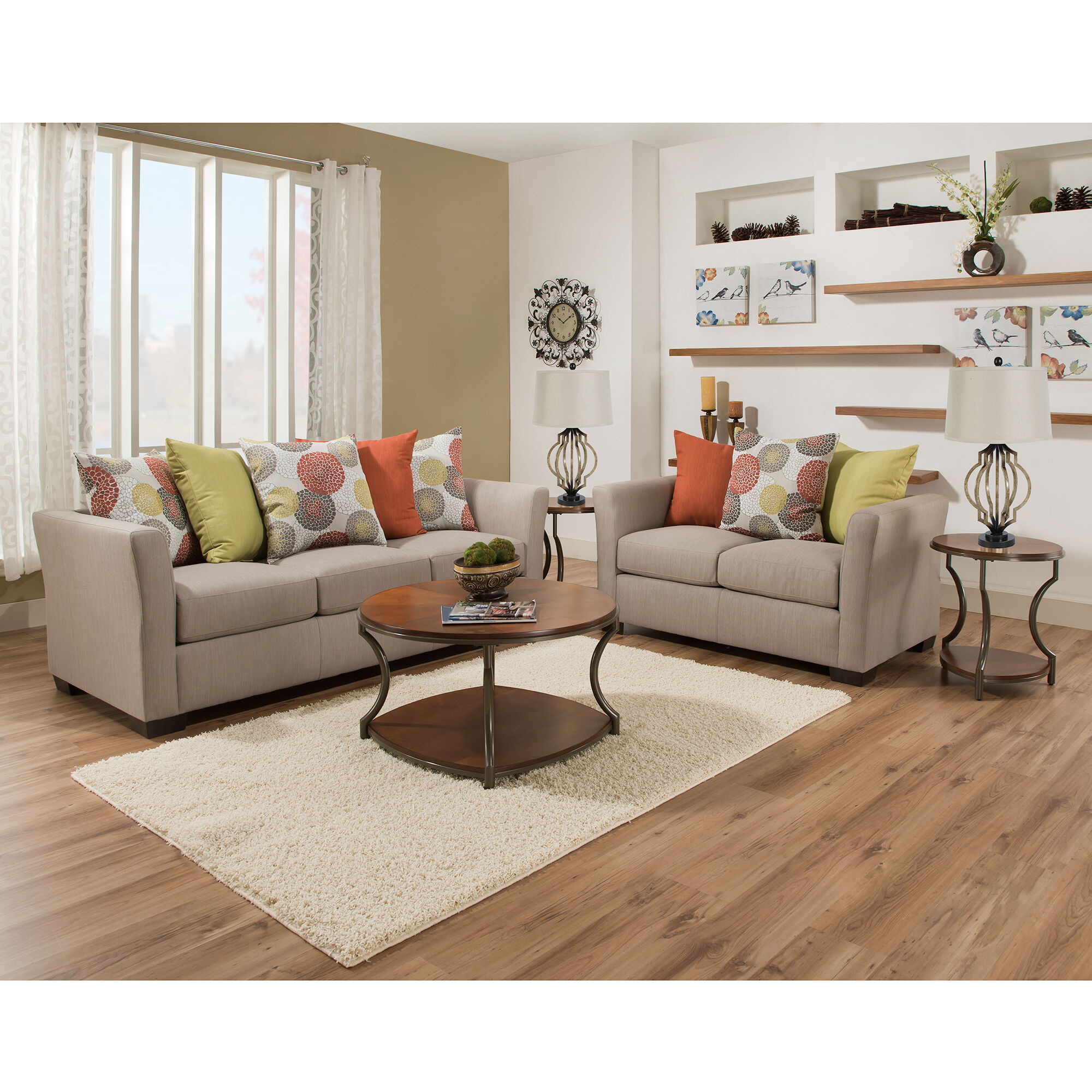 Elegant 2 Piece Ember Living Room Collection