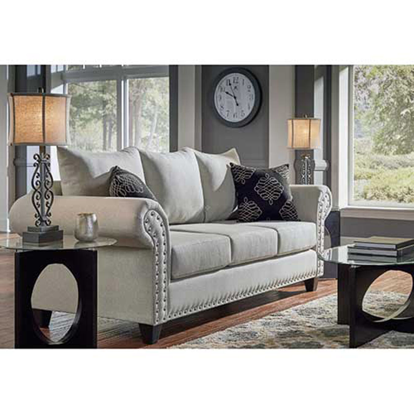 7 piece living room set microfiber couch 7piece beverly living room collection woodhaven industries sets