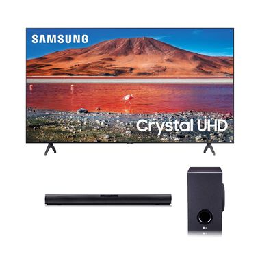 "50"" Class 4K UHD Smart TV & LG 160W 2.1Ch Sound Bar Bundle"