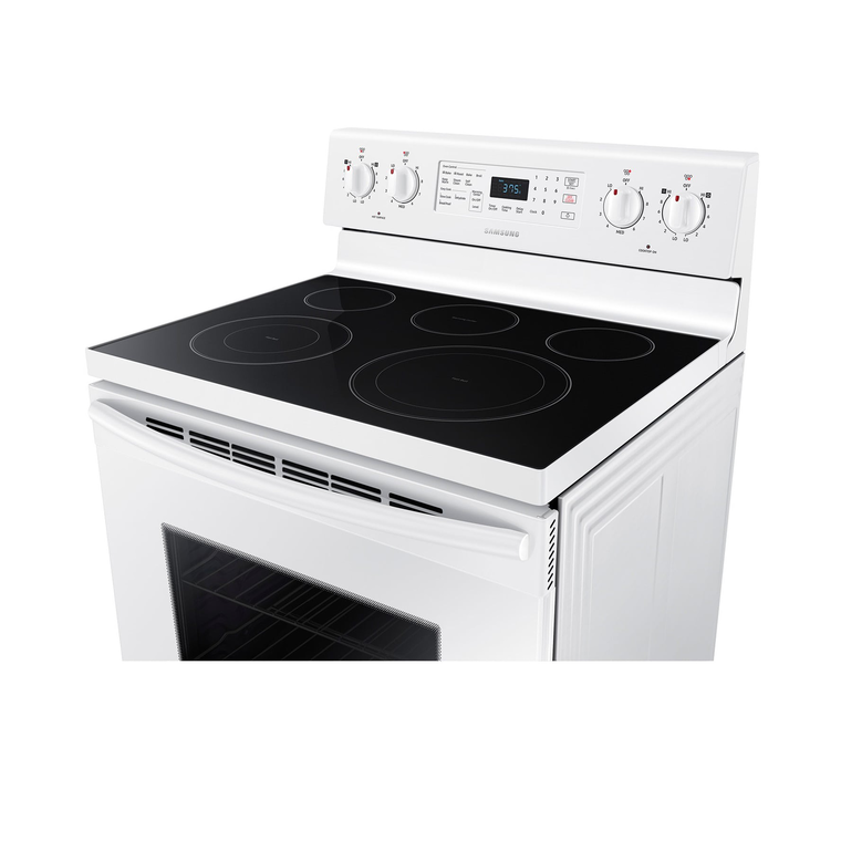 5.9 cu. ft. Convection Oven Ceramic Cooktop Electric Range - White