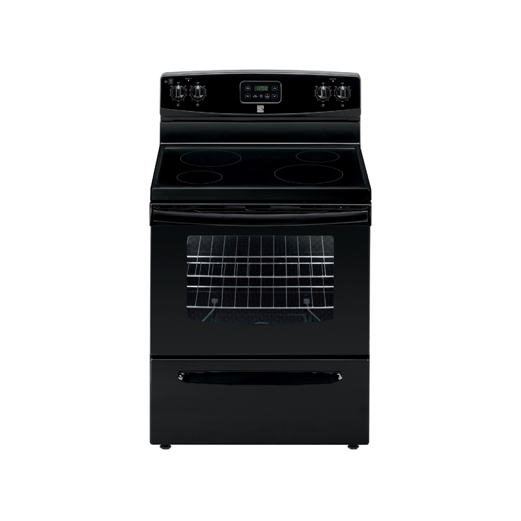 4.9 cu. ft. Electric Oven with Ceramic Cooktop - Black