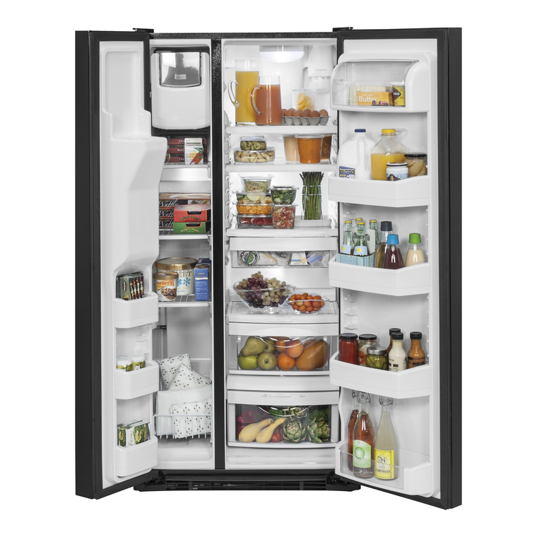 23.2 cu. ft. Side-by-Side Refrigerator with Ice and Water - Black