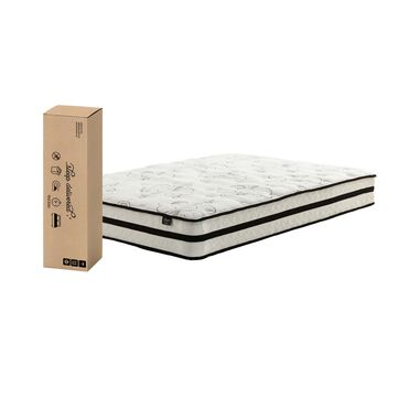 "10"" Tight Top Medium Full Hybrid Boxed Mattress with Platform Frame"