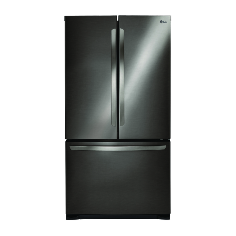 25.4 cu. ft. 3-Door French Door Refrigerator with Ice Maker (Black Stainless Steel) | Tuggl