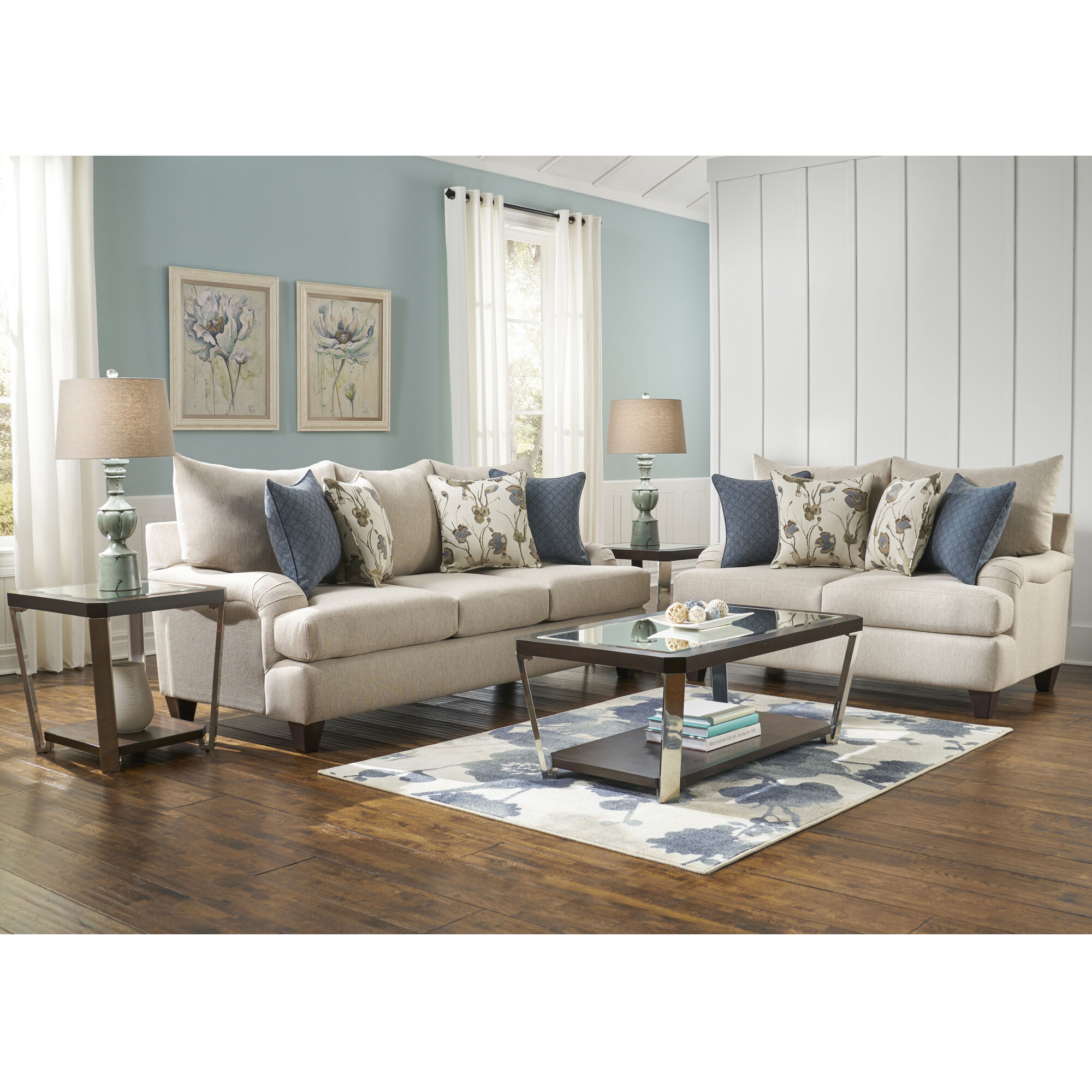 Woodhaven Industries Sofa Loveseat Sets 3Piece Vogue Living Room