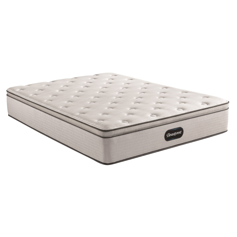 Pillow Top Plush Queen Mattress with Woodhaven Foundation and Protectors