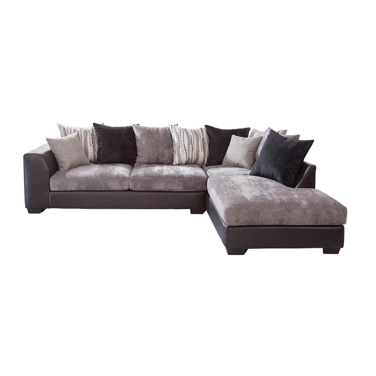 8-Piece Jamal Chaise Sofa Sectional Living Room Collection with Area Rug
