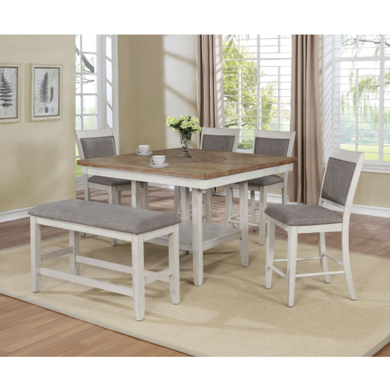 6-Piece Fulton White Counter Height Dining Set
