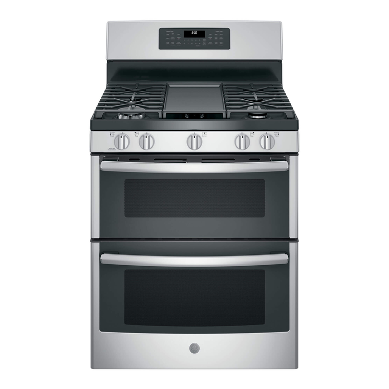 5.0 cu. ft. Self Cleaning Gas Double Oven Range - Stainless Steel