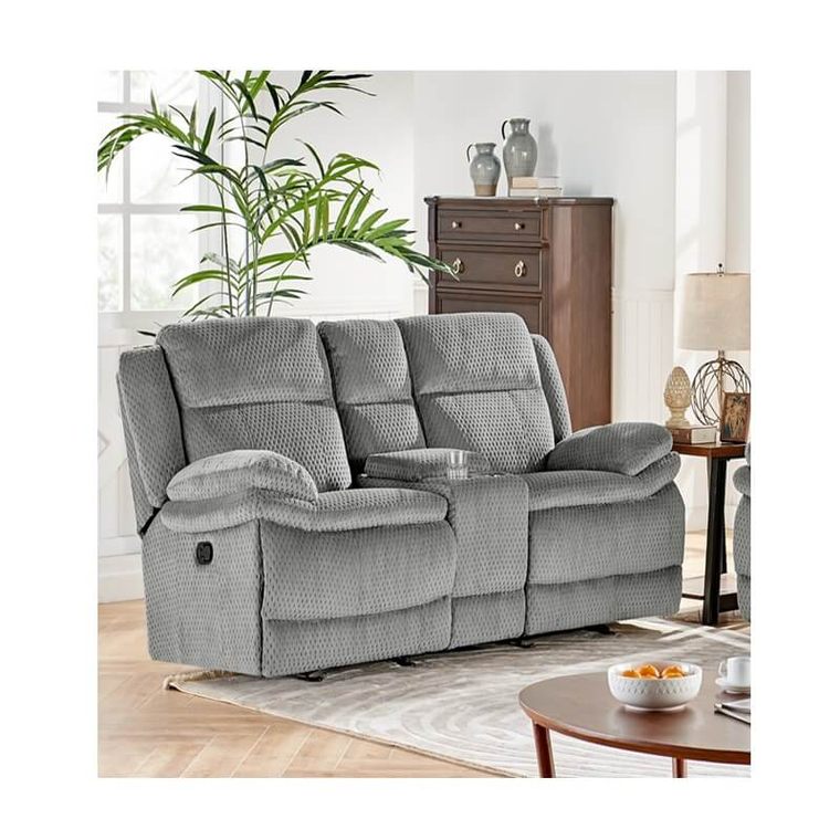 Miraculous 2 Piece Smokey Reclining Sofa Reclining Console Loveseat Set Squirreltailoven Fun Painted Chair Ideas Images Squirreltailovenorg