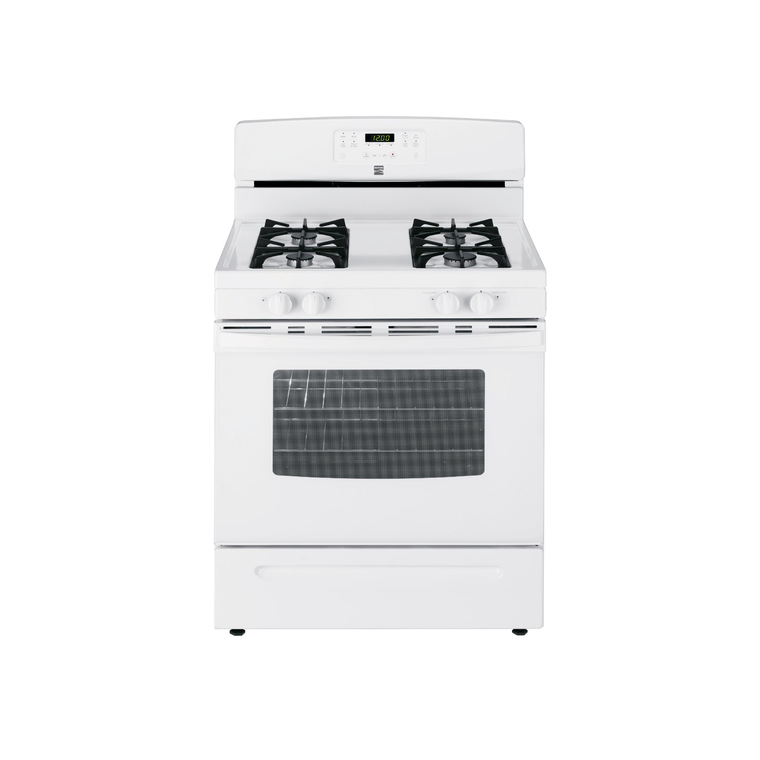 5.0 cu. ft. Self Cleaning Gas Range - White at Aaron's in Lincoln Park, MI | Tuggl