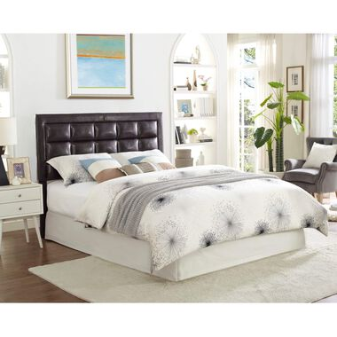 Espresso Queen Bed w/ Beautyrest Tight Top Med. Firm Mattress