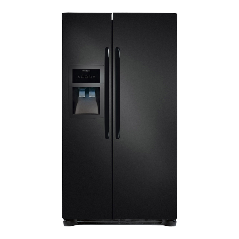 23 cu. ft. Side by Side Refrigerator in Black at Aaron's in Lincoln Park, MI | Tuggl