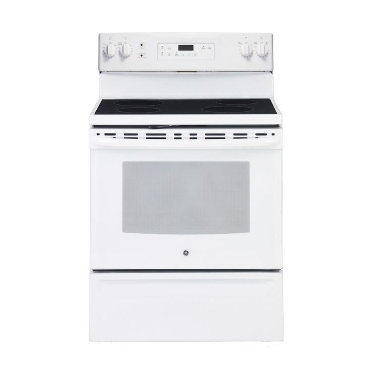5.0 cu. ft. Self Cleaning Electric Range with Ceramic Cooktop - White