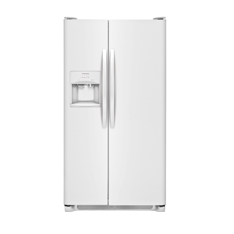 22 cu. ft. Side by Side Refrigerator - White | Tuggl