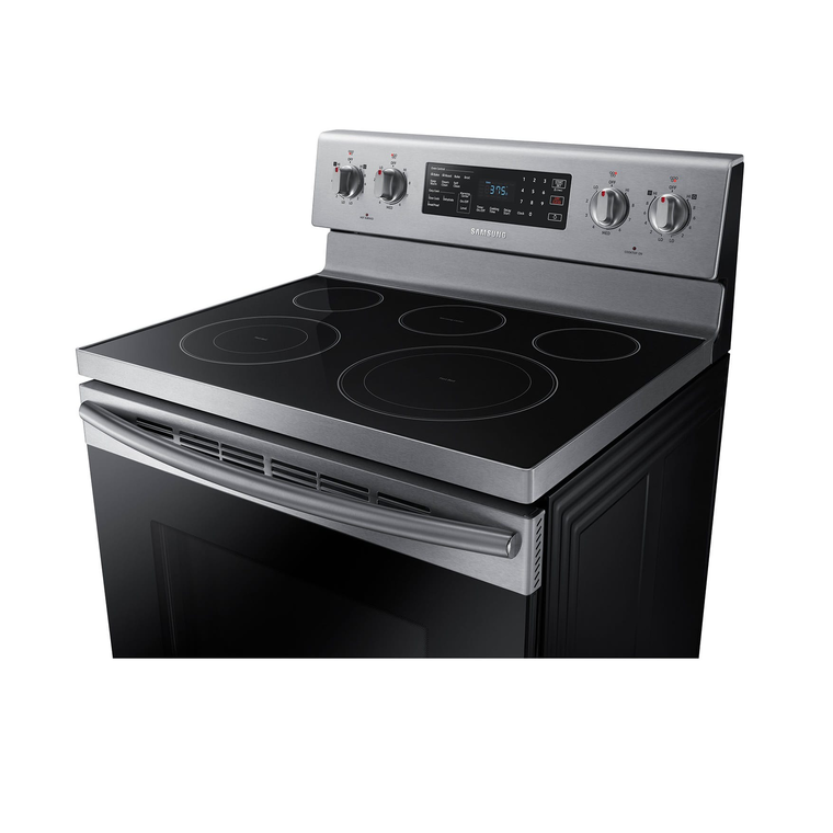 5.9 cu. ft. Convection Oven Ceramic Cooktop Electric Range - Stainless
