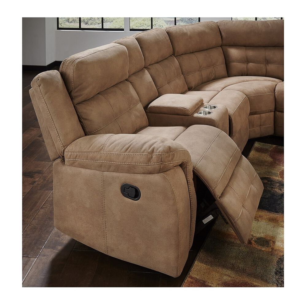 Amalfi Sectional Sets 3-Piece Cobalt Reclining Living Room Collection